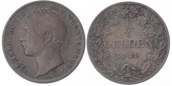 Württemberg 1/2 Gulden 1846 - Wilhelm I.