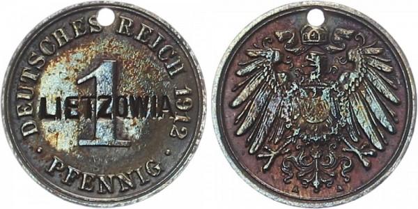 KAISERREICH 1 Pfennig 1912 - Gestempelt 'Lietzowia'