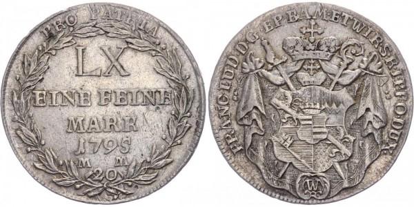 Würzburg 20 Kreuzer 1795 - Franz Ludwig von Erthal 1779-1795
