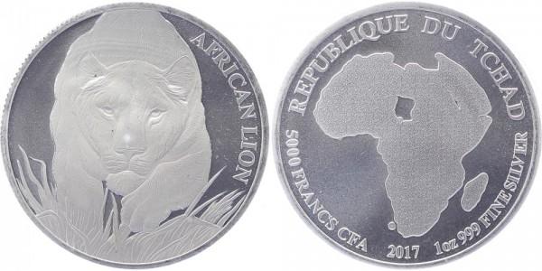 Tschad 1 Dollar 2017 - Afrikanischer Löwe