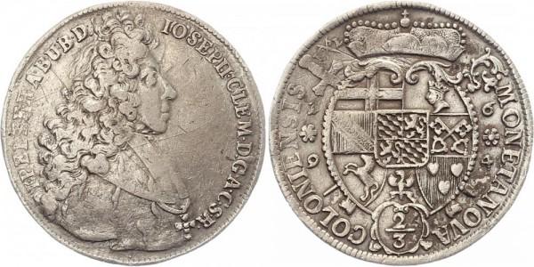 Köln 2/3 Thaler 1694 - Josef Clemens von Bayern