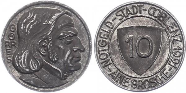 Coblenz 10 Pfennig 1921 - Notgeld