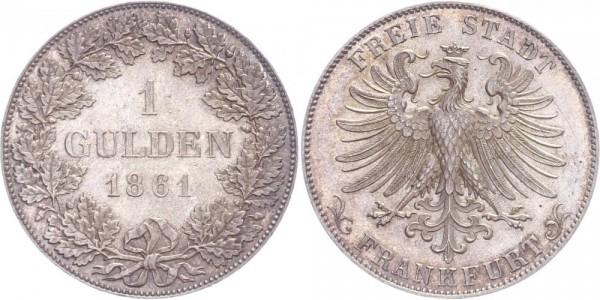 Frankfurt 1 Gulden 1861 - Freie Stadt