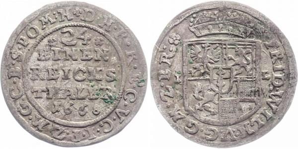 Brandenburg-Preußen 1/24 Taler 1668 - Friedrich Wilhelm