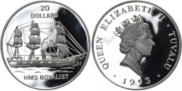 TUVALU 20 Dollars 1993 - HMS Royalist