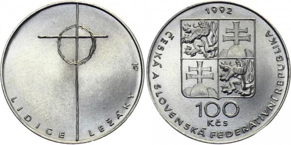 CSFR 100 Kč 1992 - Lidice & Lezaky