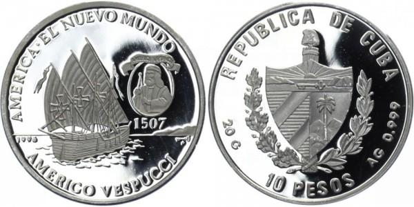 KUBA 10 Pesos 1996 - Die neue Welt