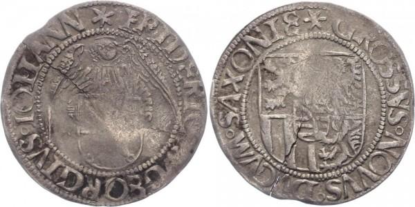 Sachsen-Kurlinie (1486-1547, Ernestiner) Engelsgroschen (Schreckenberger) o.J. (1500-1507) Annaberg