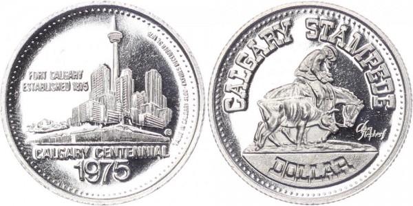 Kanada 1 Dollar 1975 - Calgary centennial