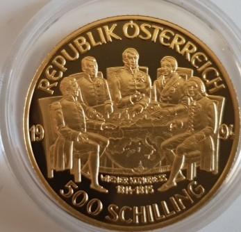 Österreich 500 Schilling 1994 Wiener Kongress; Franz I.
