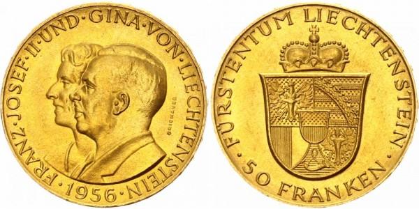 Liechtenstein 50 Franken 1956 - Joseph II., 1938-1989