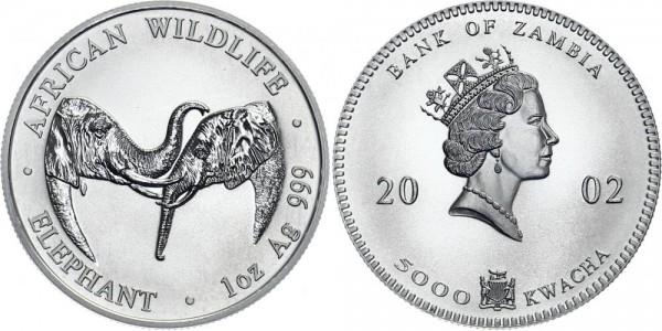 SAMBIA Kwacha 2002 - Elefant