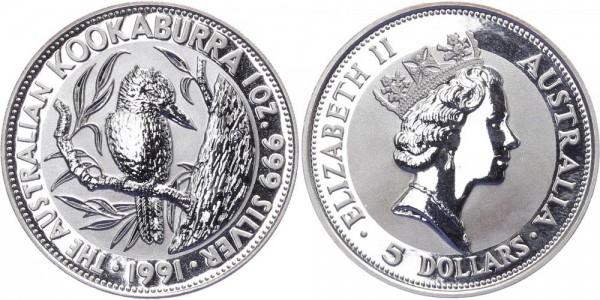 Australien 5 Dollar 1991 - Kookaburra