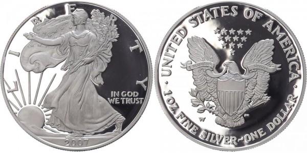 USA 1 Dollar 2007 W Eagle