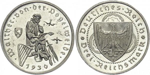 Weimarer Republik 3 Mark 1930 G Walther von der Vogelweide