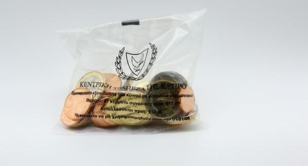 Zypern 17,09 2008 - Starterkit mit Kursmünzen 1 Cent bis 2 Euro