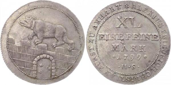 Anhalt-Bernburg 1/3 Taler 1799
