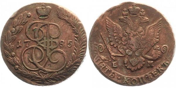 Rußland 5 Kopeken 1785 EM Kursmünze