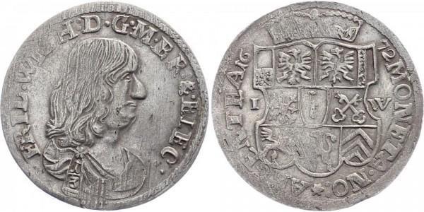 Brandenburg ⅓ Taler 1672 IW Friedrich Wilhelm