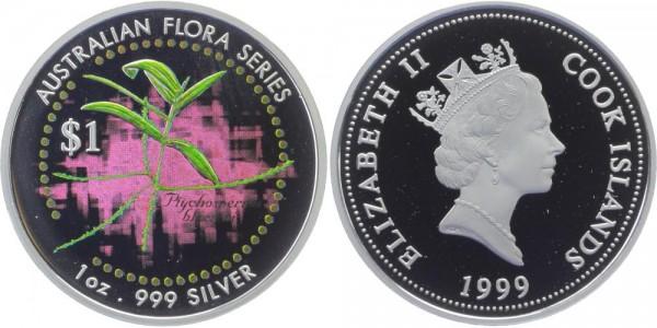 COOCKINSELN 1 Dollar 1999 - bunte Pflanze