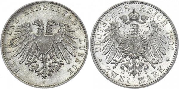 LÜBECK 2 Mark 1901 A Lübeck