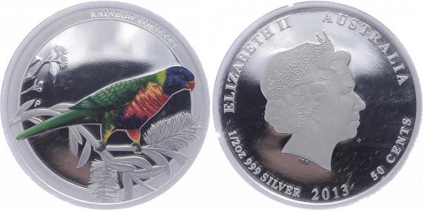 Australien 50 Cents 2013 - Rainbow Lorikeet
