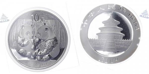 China 10 Yuan 2009 - Panda, 1 Unze Silber
