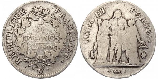 Frankreich 5 Francs 1804 - Erste Republik