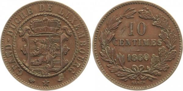 Luxemburg 10 Centimès 1860 - Kursmünze