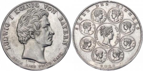 Bayern Geschichtstaler 1828 - Segen des Himmels
