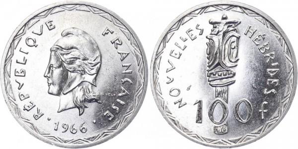 Neuhebriden 100 Francs 1966 - Kursmünze
