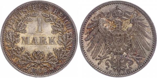 Kaiserreich 1 Mark 1906 F Kursmünze