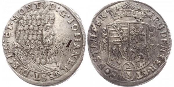 Sachsen-Weimar 2/3 Taler 1677 - Johann Ernst