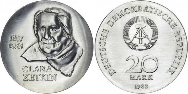 DDR 20 Mark 1982 A Zetkin