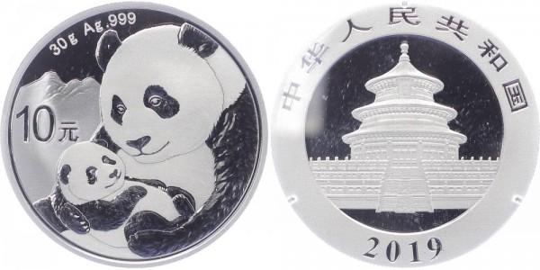 China 10 Yuan 2019 - Pandas