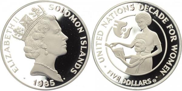 Salomonen 5 Dollars 1985 - Jahrzehnt der Frau