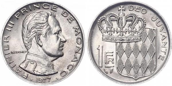 Monaco 1 Franc 1977 - Reiner III.