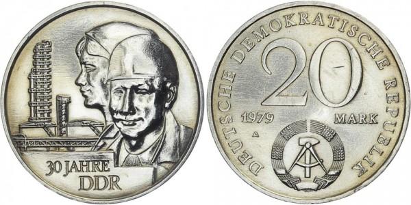DDR 20 Mark 1979 A 30 Jahre DDR