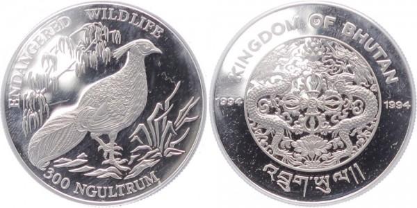 Bhutan 300 Ngultrum 1994 - Schwarzfasan