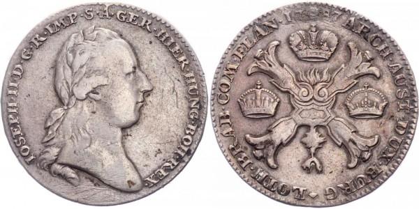 Belgien Brabant/Herzogtum 1 Kronentaler 1787 Brüssel
