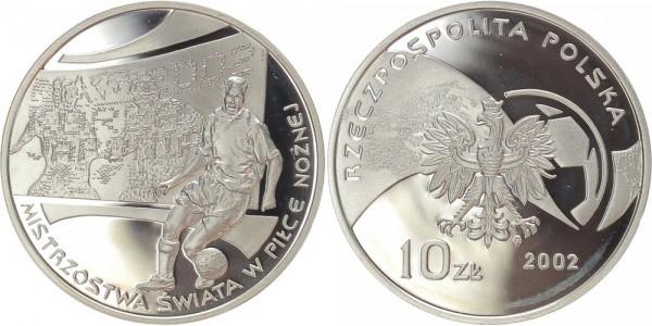 Polen 10 Zloty 2002 - Fussball WM 2002