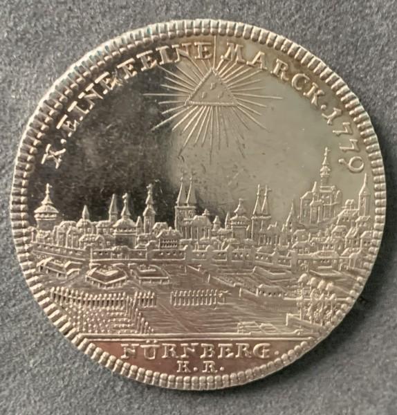 Nürnberg Konv.-Taler 1779 - Stadtansicht, Josef II.