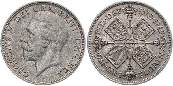 Großbritannien 1 Florin 1936 - Georg V.