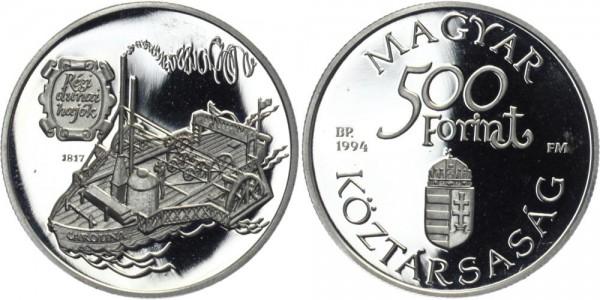 """UNGARN 500 Forint 1994 - Donauschiff """"Carolina"""""""