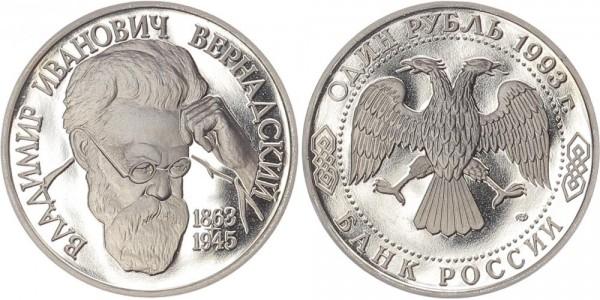 Russland 1 Rubel 1993 - Vladimir I. Vernadskij