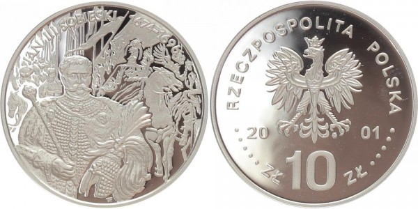 Polen 10 Zloty 2001 - Jan Sobieski III