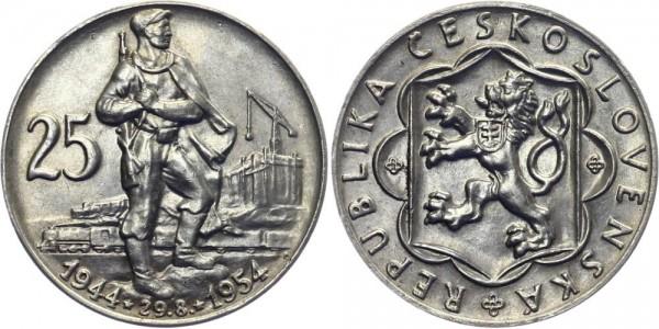CSR 25 Kč 1954 - Slovakischer Aufstand - 10. Jahrestag