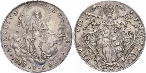Vatikan Scudo 1818 - Pius VII., 1799-1823