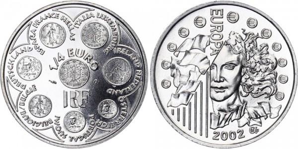 Frankreich 1/4 Euro 2002 - Europa