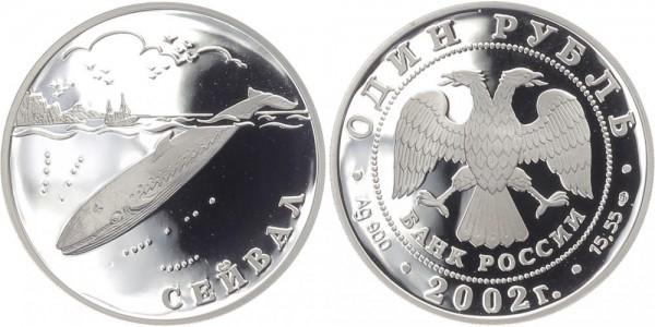 Russland 1 Rubel 2002 - Seiwal